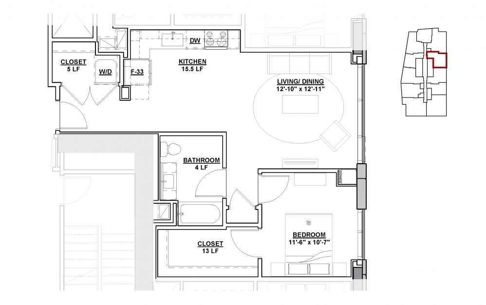 Limelight floor Plan - The Lumen Cleveland Apartments