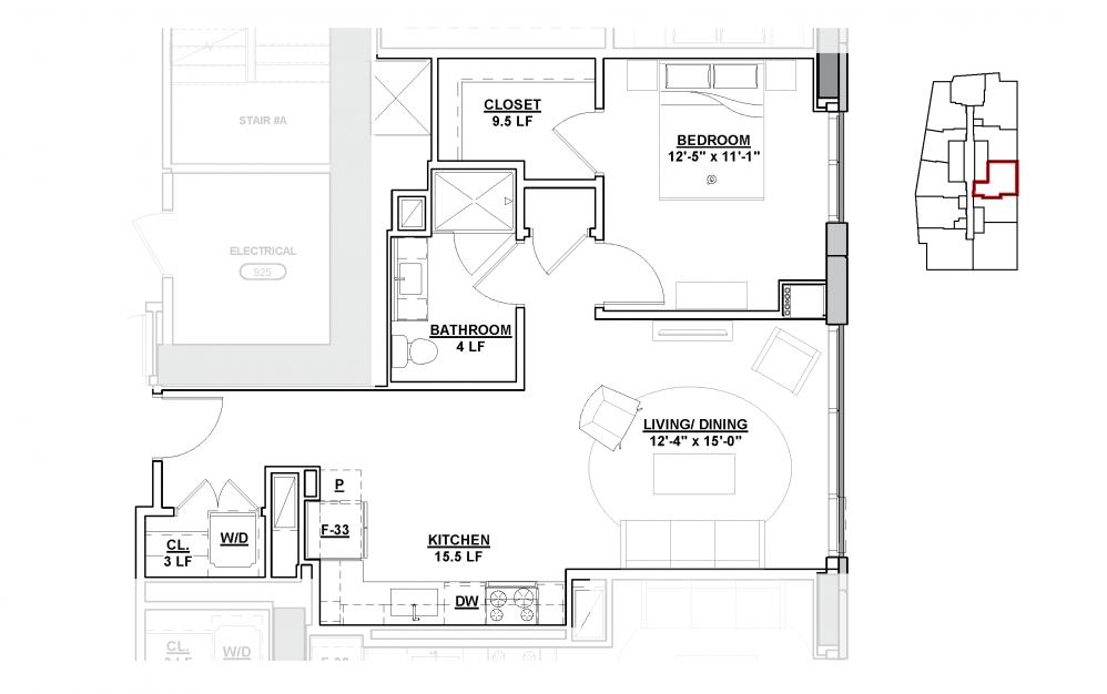 Encore floor Plan - The Lumen Cleveland Apartments